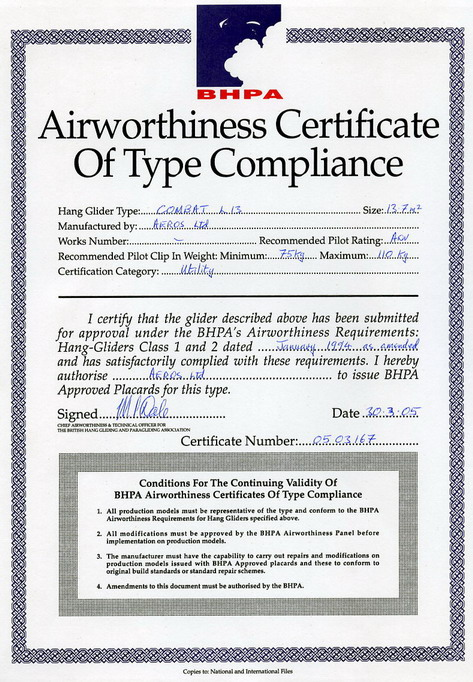 airworthiness assignment (a) the design and construction standards, which the applicant shall meet to satisfy the minister, that the aircraft is amateur-built and (b) the requirements for inspections, equipment and instruments, and operating information necessary to obtain a special certificate of airworthiness for amateur.